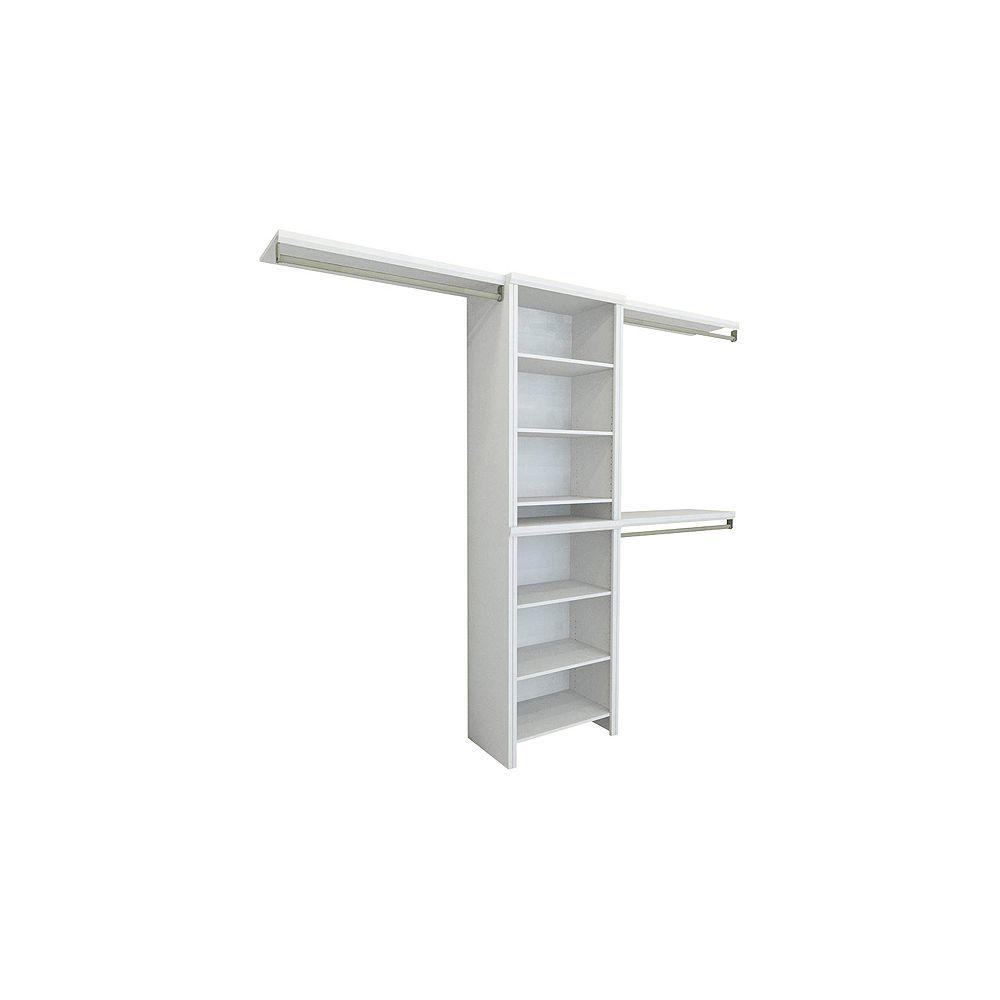 ClosetMaid White Impressions Basic Standard Combo Kit - 5ft W TO 10FT W