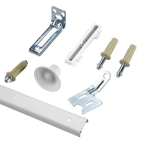 48 in (1210 mm) Track, Bi-Fold Door Hardware Kit, White