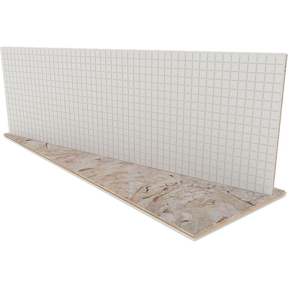 Insulfloor Paquet de 4 panneaux ThermoSmart pour sous-plancher, 15,5 x 48 x 1 po