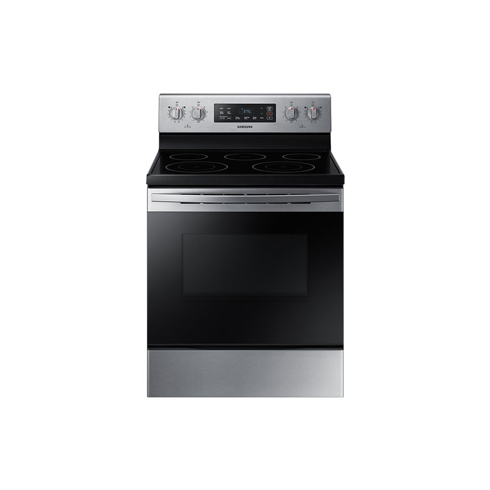 Samsung 30-inch 5.9 cu. ft. Freestanding Electric Range with Self Cleaning and 5-Burners in Stainless Steel