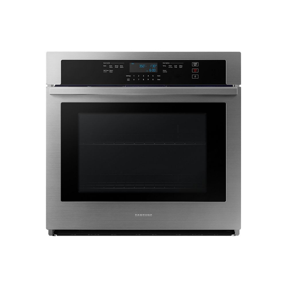 Samsung 30-inch 5.1 cu.ft. Single Electric Wall Oven with Wi-Fi in Stainless Steel