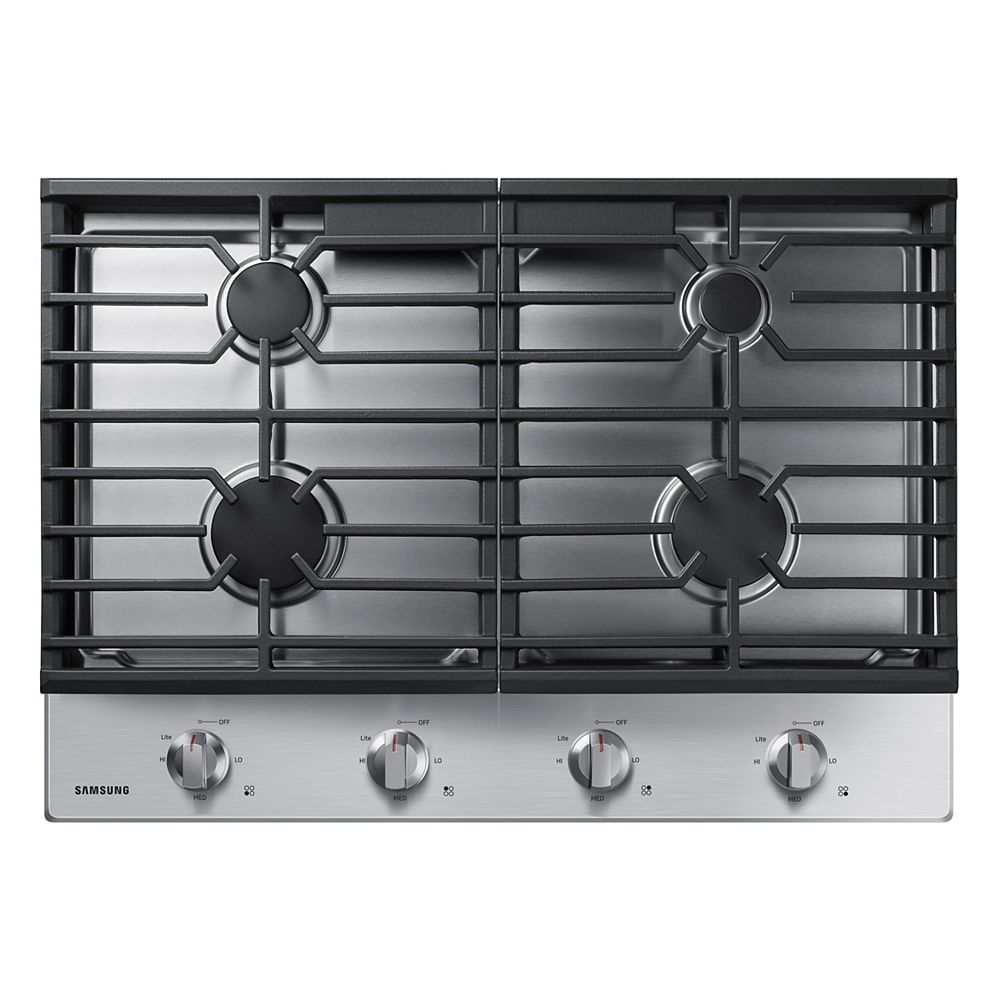 Samsung 30-inch Gas Cooktop in Stainless Steel with 4 Burners