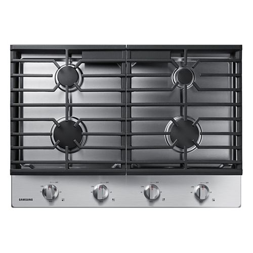 30-inch Gas Cooktop in Stainless Steel with 4 Burners
