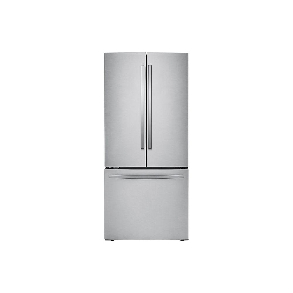 Samsung 30-inch W 21.8 cu. ft. French Door Refrigerator in Stainless Steel, Standard Depth - ENERGY STAR®