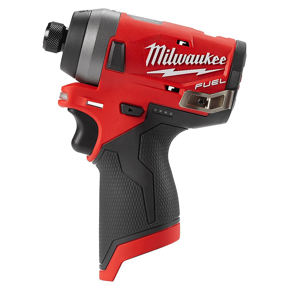 Milwaukee Tool M12 FUEL 12V Lithium-Ion Brushless Cordless 1/4-inch Hex Impact Driver (out... | Home Depot Canada