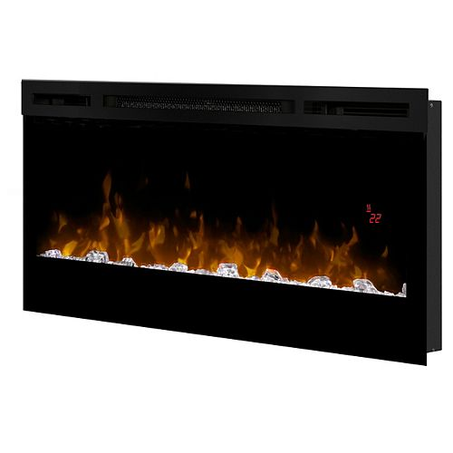 "Dimplex Dimplex Prism Series 34"" Wall-Mounted Electric Fireplace with Acrylic Ember Bed"