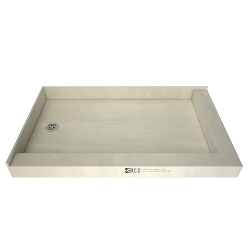Tile Redi 30 in. x 60 in. Double Threshold Shower Base with Left Drain