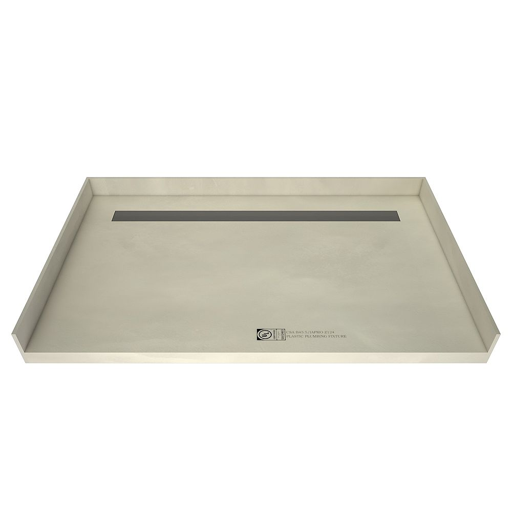 Tile Redi 30 in. x 60 in. Barrier Free Shower Base with Back Drain and Tileable Trench Grate