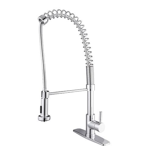 Ancona Le Bistro Single-Hole Pull-Down Kitchen Faucet in Polished Chrome
