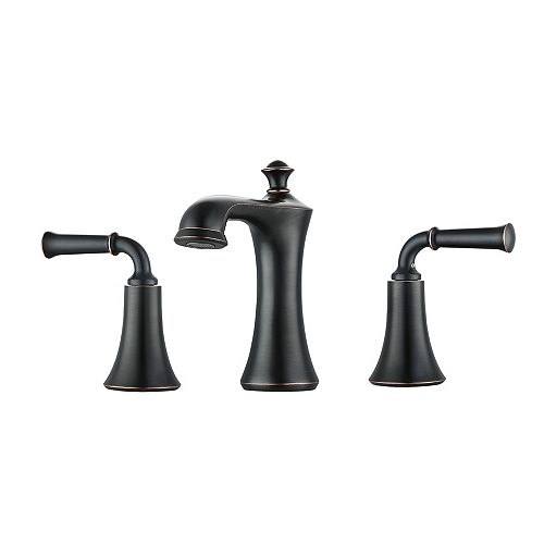 Peonia 8-inch Widespread 2-Handle Bathroom Faucet in Oil Rubbed Bronze