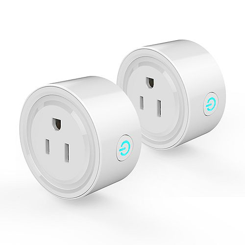 2 Pcs. Smart Plug Wi-Fi control devices from anywhere. C ETL US Certified