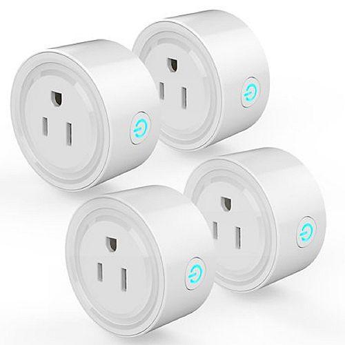 4 pièces. Prise intelligente Wi-Fi pour contrôler les appareils de n'importe où. Certifié C ETL US