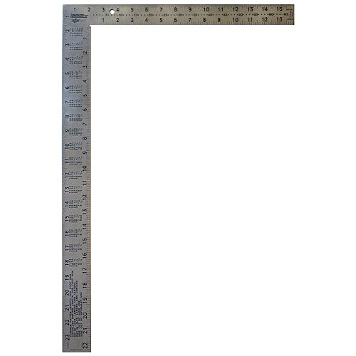 16 inch x 24 inch Stainless Steel Framing Square