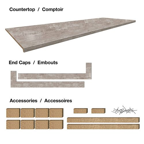Belanger Laminates Inc 6 ft. Countertop 25-1/2 x 72 x 1-1/4 Profile 2700 with Accessories - Urban Life