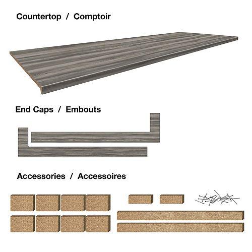 Belanger Laminates Inc. Comptoir stratifié de 6 pi. style Afternoon Nap, avec accessoires 25-1/2 x 72 x 1-1/4