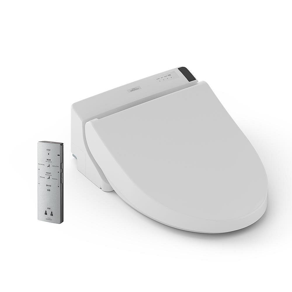TOTO WASHLET C200 Round Front Bidet Toilet Seat in Cotton White