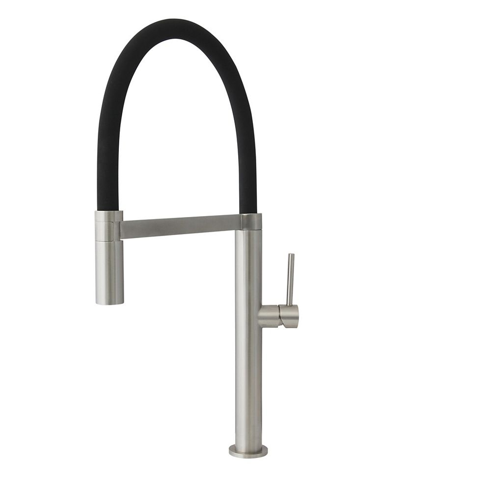 Stylish Pull Out Single Handle Stainless Steel Kitchen Faucet