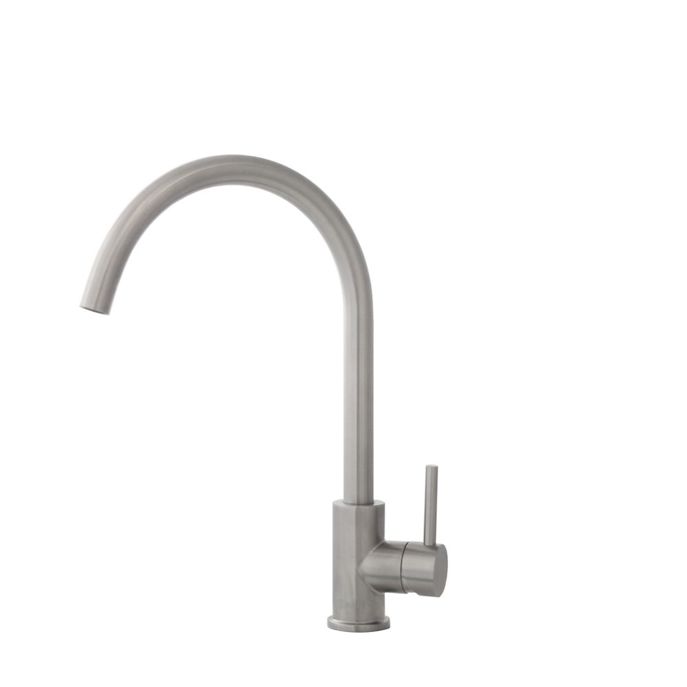 Stylish Single Handle Stainless Steel Kitchen Faucet