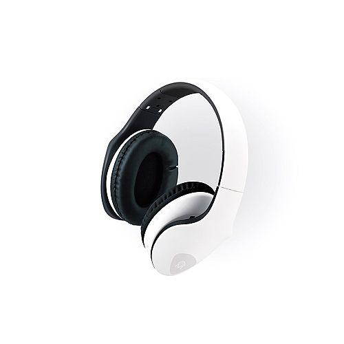 M Xpert DJ Headphones with Microphone Black on White