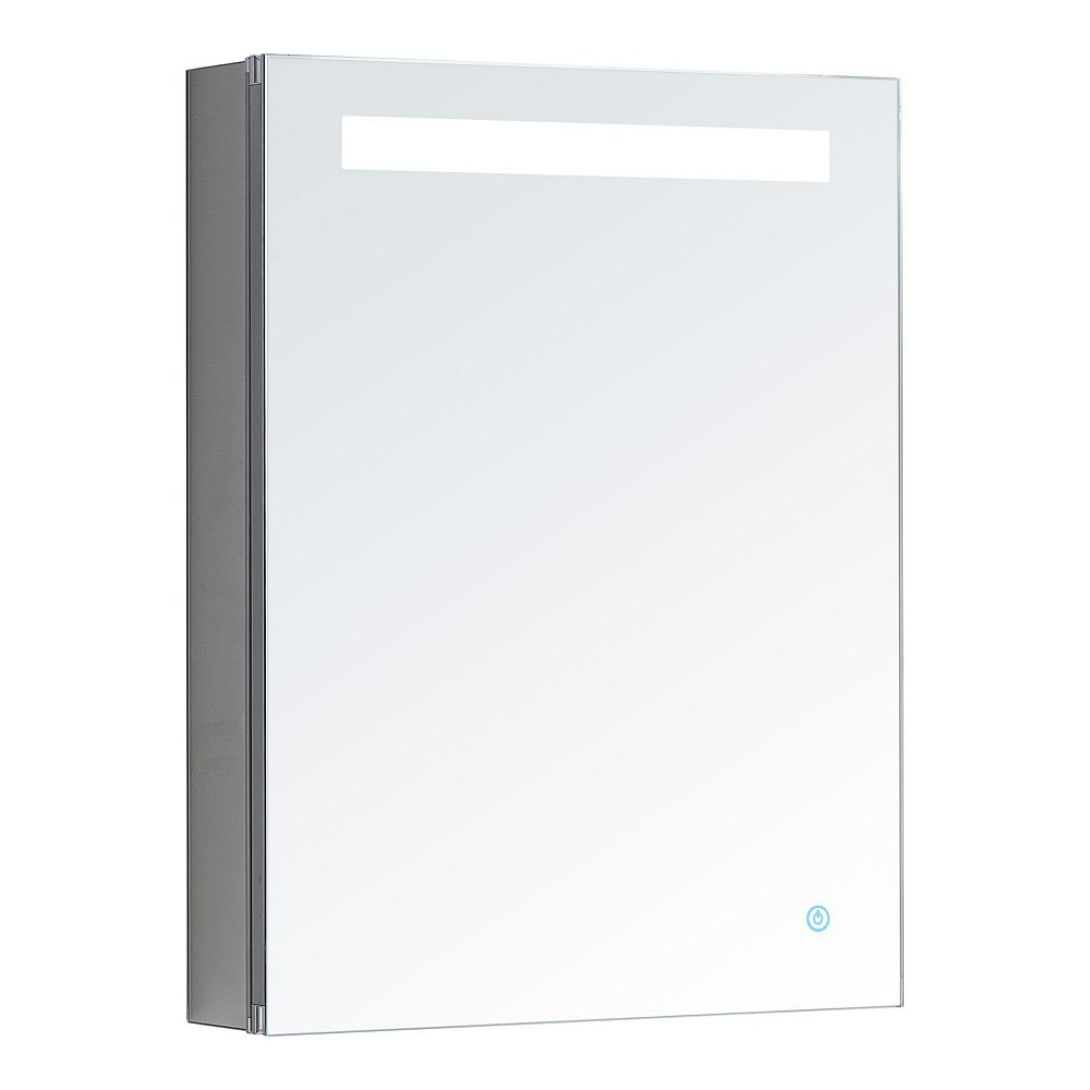Aquadom Pacifica 20 in. W x 26 in. H Recessed or Surface Mount LED Medicine Cabinet, Single Door,Right Hinge