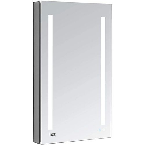 Aquadom Signature Royale 24 inch W x 40 inch H Recessed or Surface Mount LED Medicine Cabinet, Left Hinge