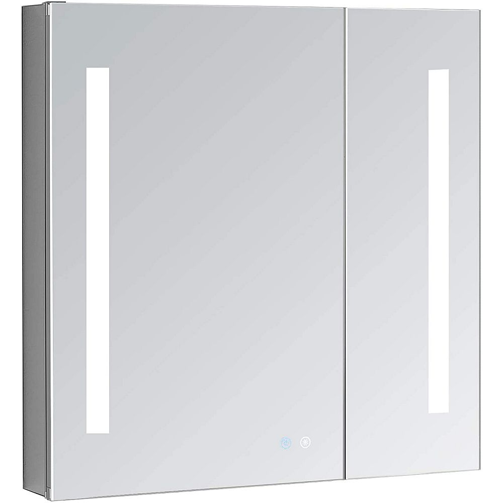 Aquadom Signature Royale 36 Inch W X 30 H Recessed Or Surface Mount Led Medicine Cabi The Home Depot Canada