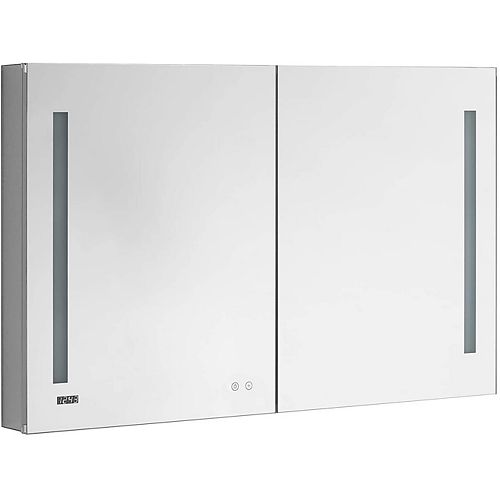 Aquadom Signature Royale 48 inch W x 40 inch H Recessed or Surface Mount LED Medicine Cabinet, Bi-View Doors