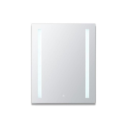 Aquadom Royale Basic 24 in. W x 30 in. H Recessed or Surface Mount LED Medicine Cabinet,One Door, Left Hinge