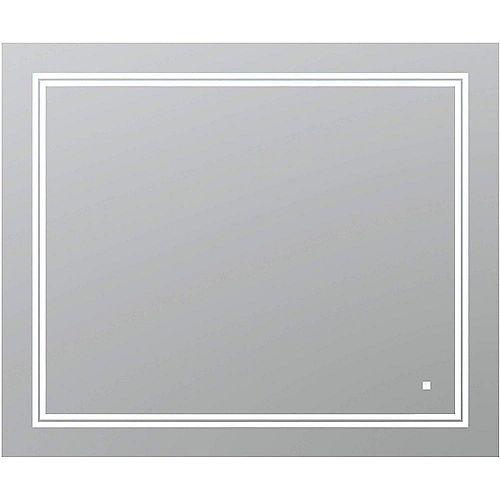 SOHO 36 po L x 30 po H Miroir de salle de bain sans cadre avec éclairage LED et miroir antibuée