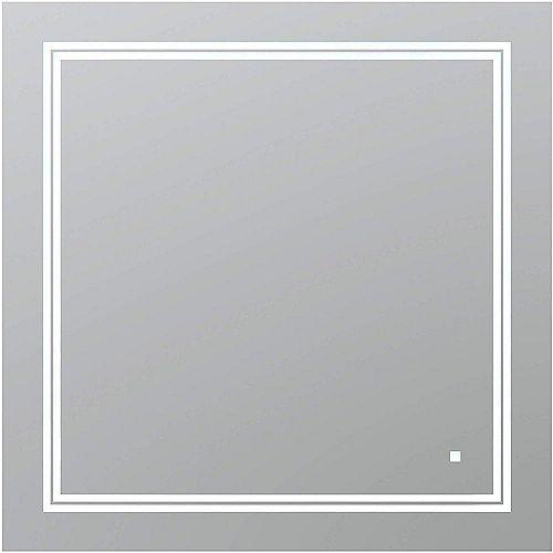 SOHO 36 po L x 36 po H Miroir de salle de bain sans cadre avec éclairage LED et miroir antibuée