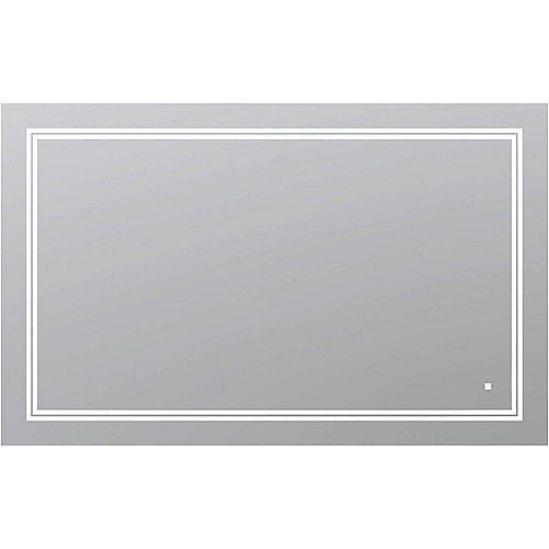 SOHO 48 po L x 30 po H Miroir de salle de bain sans cadre avec éclairage LED et miroir antibuée
