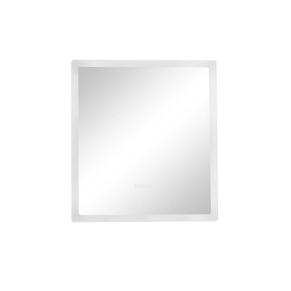 Eisen Home Smart LED 24 in. W x 27 in. H Frameless LED Single Bathroom Mirror with Bluetooth Speakers, Fog Free