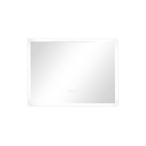 Smart LED 36 in. W x 27 in. H Frameless LED Single Bathroom Mirror with Bluetooth Speakers, Fog Free