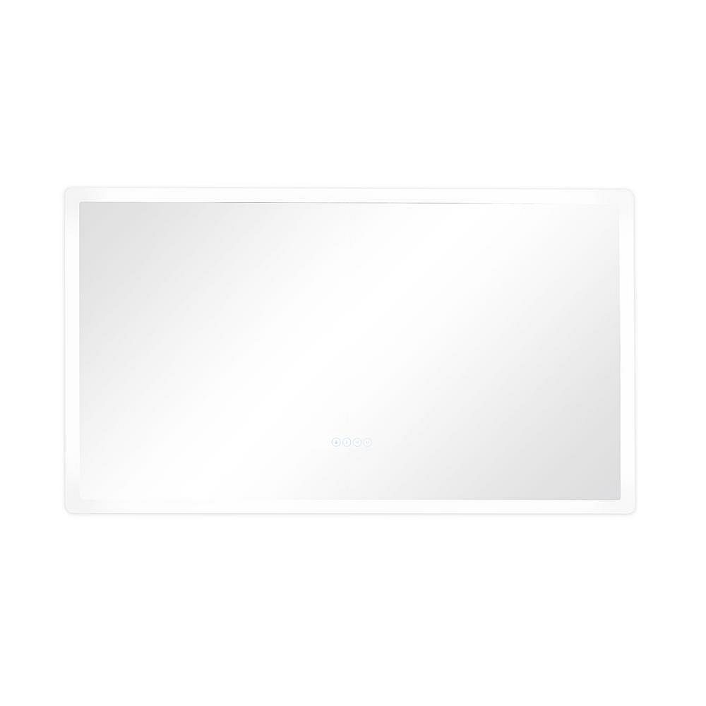Eisen Home Smart LED 48 in. W x 27 in. H Frameless LED Single Bathroom Mirror with Bluetooth Speakers, Fog Free