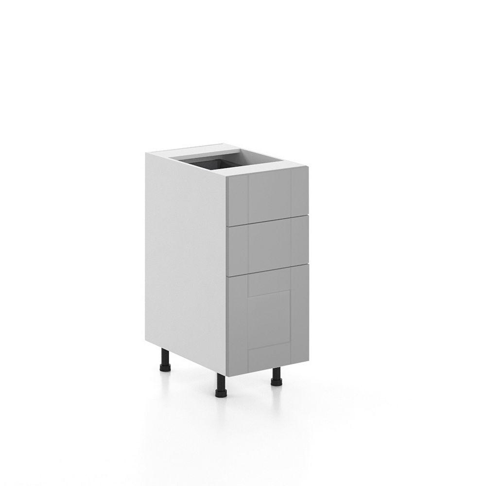 Eurostyle Base Cabinet 3 Drawers Cambridge 15 inch