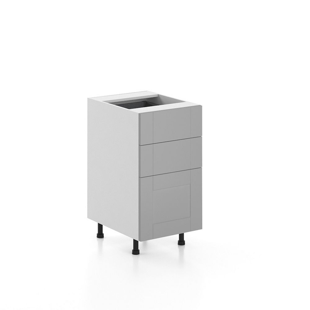 Eurostyle Base Cabinet 3 Drawers Cambridge 18 inch