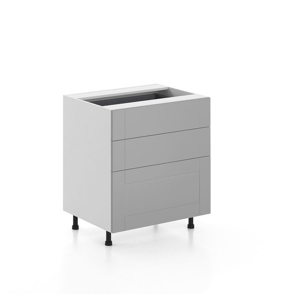 Eurostyle Base Cabinet 3 Drawers Cambridge 30 inch