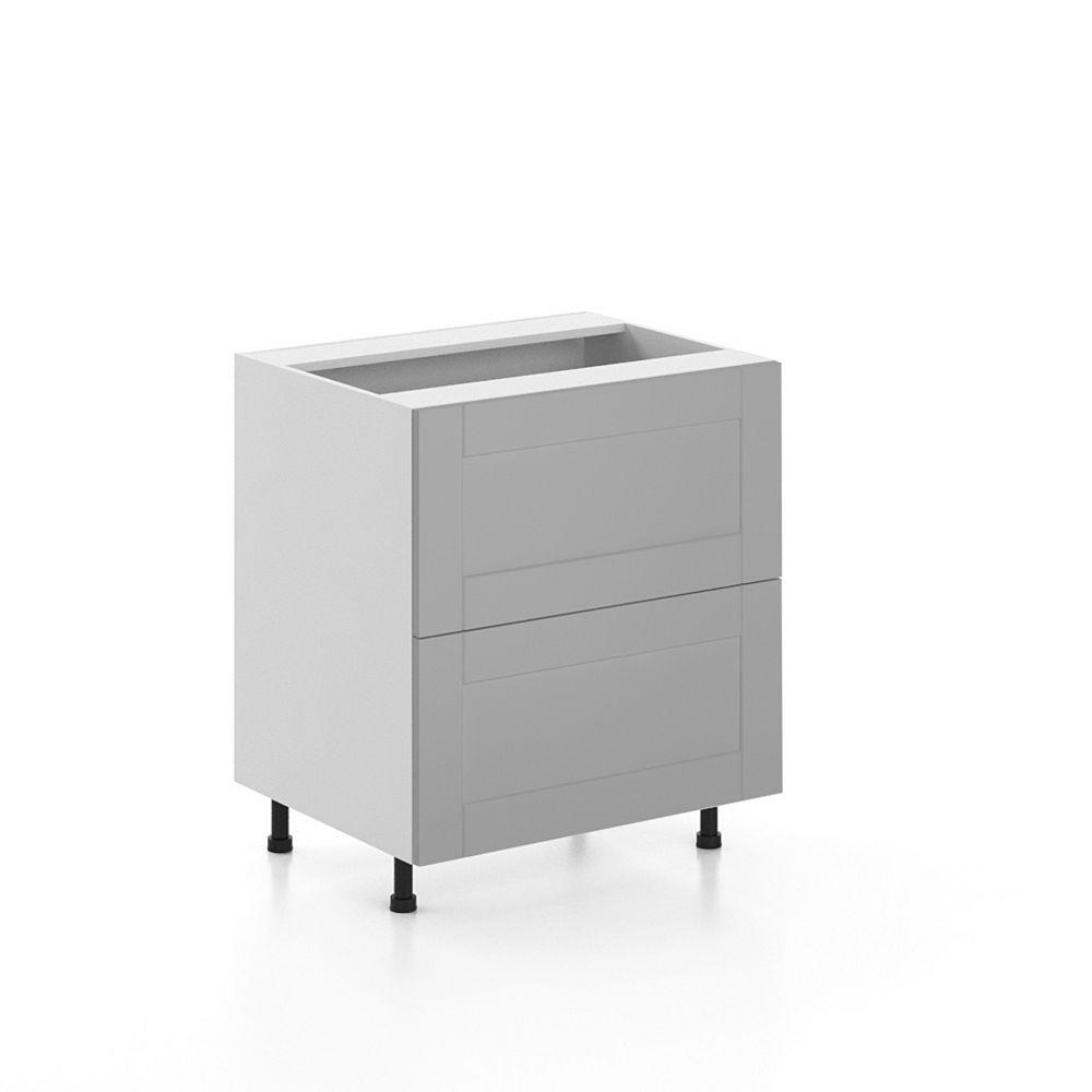 Eurostyle Base Cabinet 2 Drawers Cambridge 30 inch