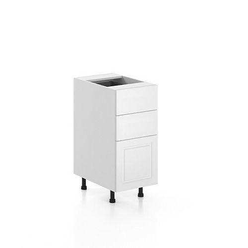 Eurostyle Base Cabinet 3 Drawers Florence 15 inch