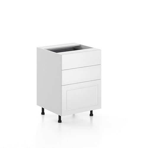 Base Cabinet 3 Drawers Florence 24 inch