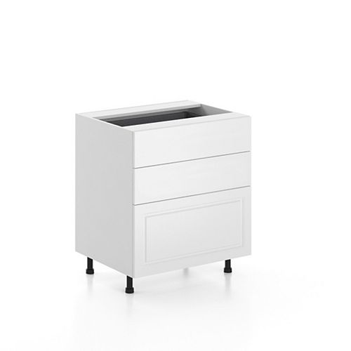 Base Cabinet 3 Drawers Florence 30 inch