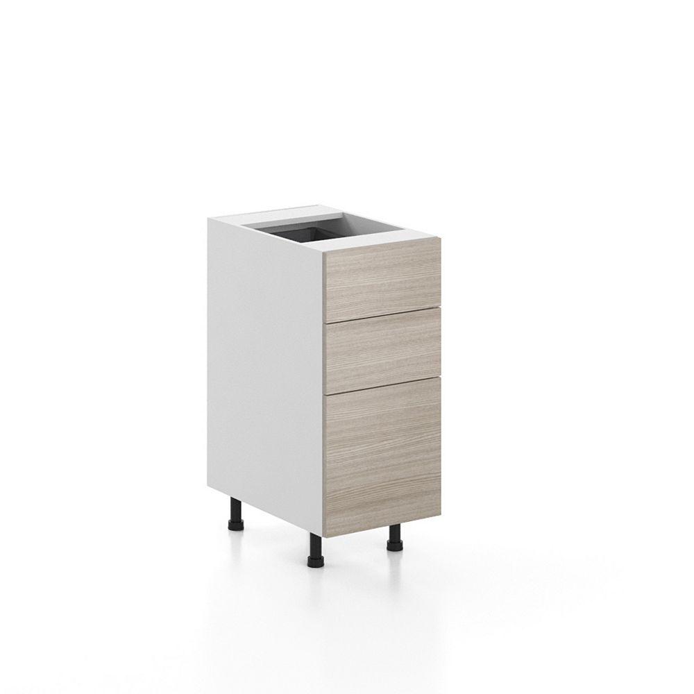 Eurostyle Base Cabinet 3 Drawers Geneva 15 inch