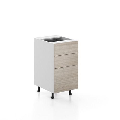Base Cabinet 3 Drawers Geneva 18 inch