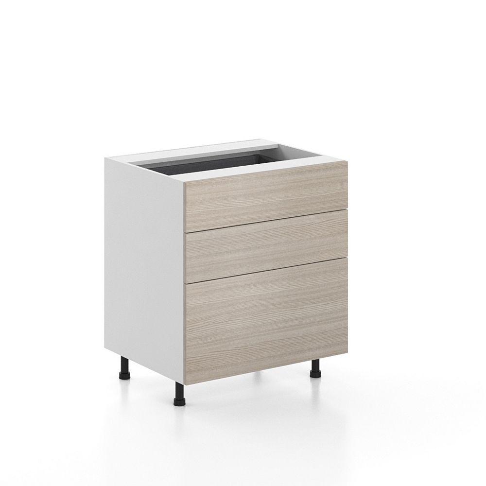 Eurostyle Base Cabinet 3 Drawers Geneva 30 inch