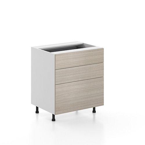 Base Cabinet 3 Drawers Geneva 30 inch