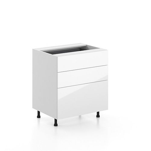 Base Cabinet 3 Drawers Valencia 30 inch