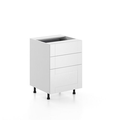 Base Cabinet 3 Drawers Oxford 24 inch