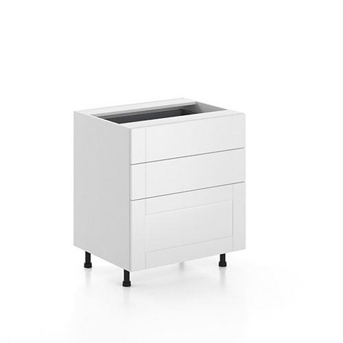 Base Cabinet 3 Drawers Oxford 30 inch