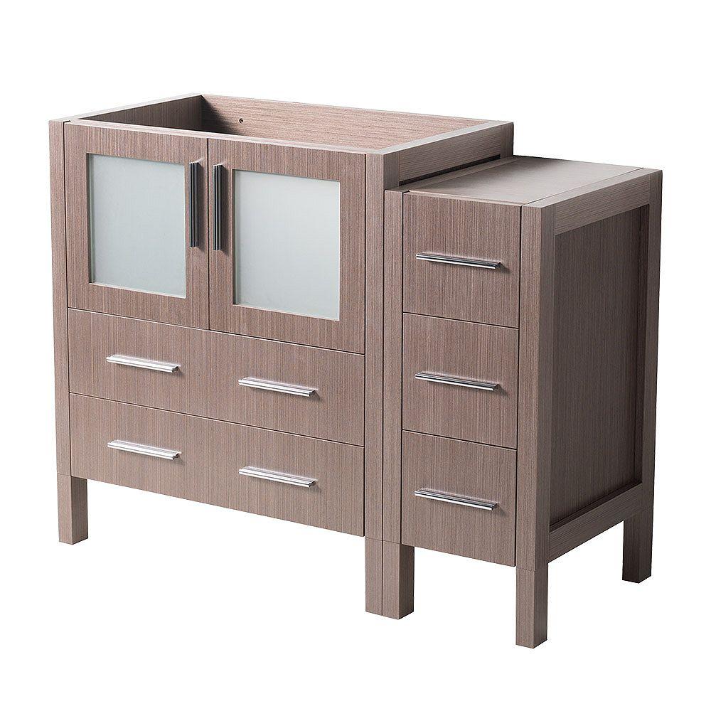 Fresca Torino 42 inch Bath Vanity Cabinet in Gray Oak with ...