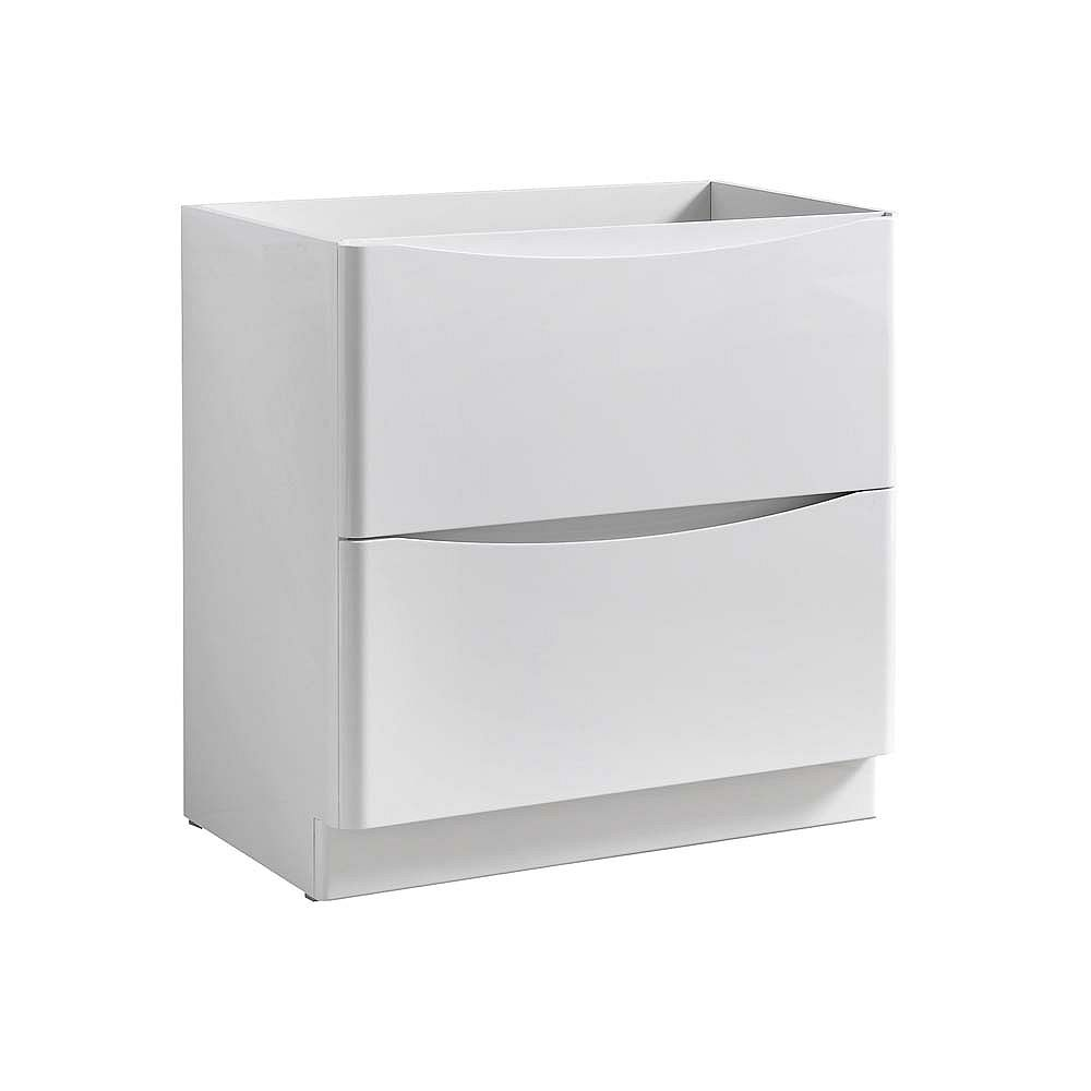 Fresca Tuscany 32 inch Glossy White Free Standing Modern Bathroom Vanity